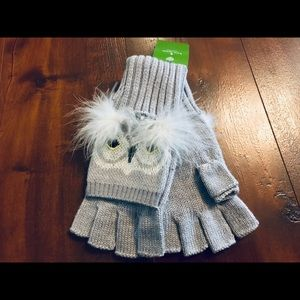 NWT Kate Spade Who Me Pop Top Mittens